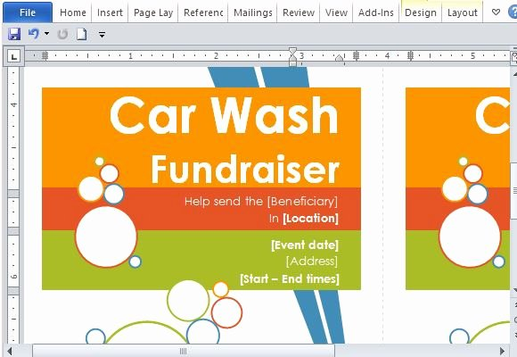 Car Wash Fundraiser Flyer Template Luxury Door Hanger Flyers Template for Word