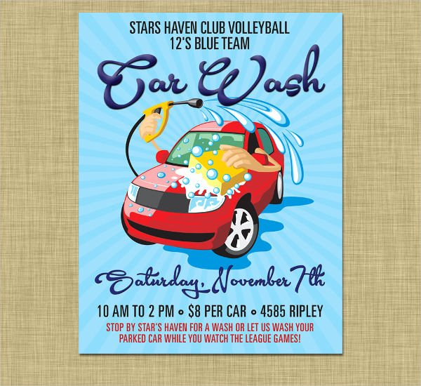 Car Wash Fundraiser Flyer Template New 47 Printable Flyer Templates Psd Ai