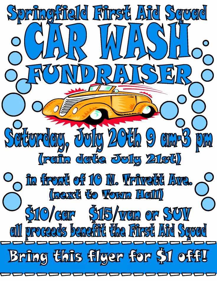 Car Wash Fundraiser Flyer Template New Car Wash Flyer 2013 Fundraising Pinterest