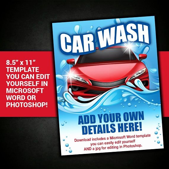 Car Wash Fundraiser Flyer Template New Car Wash Template Car Wash Flyer Fundraiser Club event