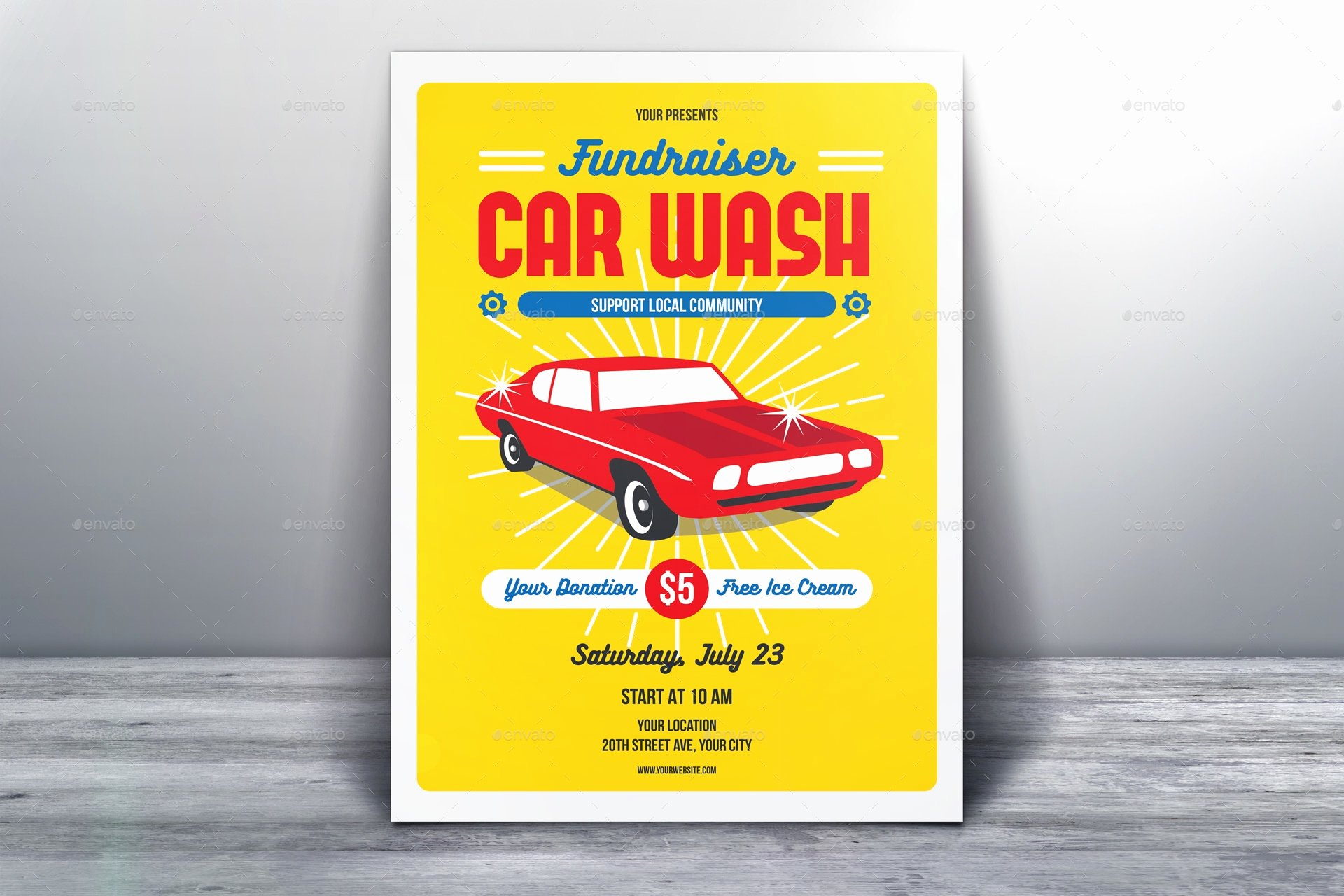 Car Wash Fundraiser Flyer Template Unique 43 Elegant Fundraising Flyer Templates Word Psd Ai