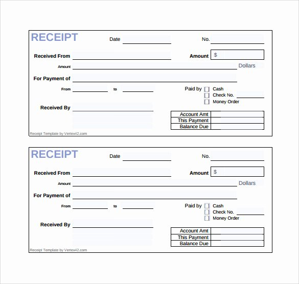 Cash Receipt Template Pdf Inspirational Free 19 Sales Receipt Templates In Google Docs