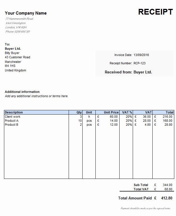 Cash Receipt Template Pdf Luxury Simple Receipt Slip Examples for Your Business Violeet