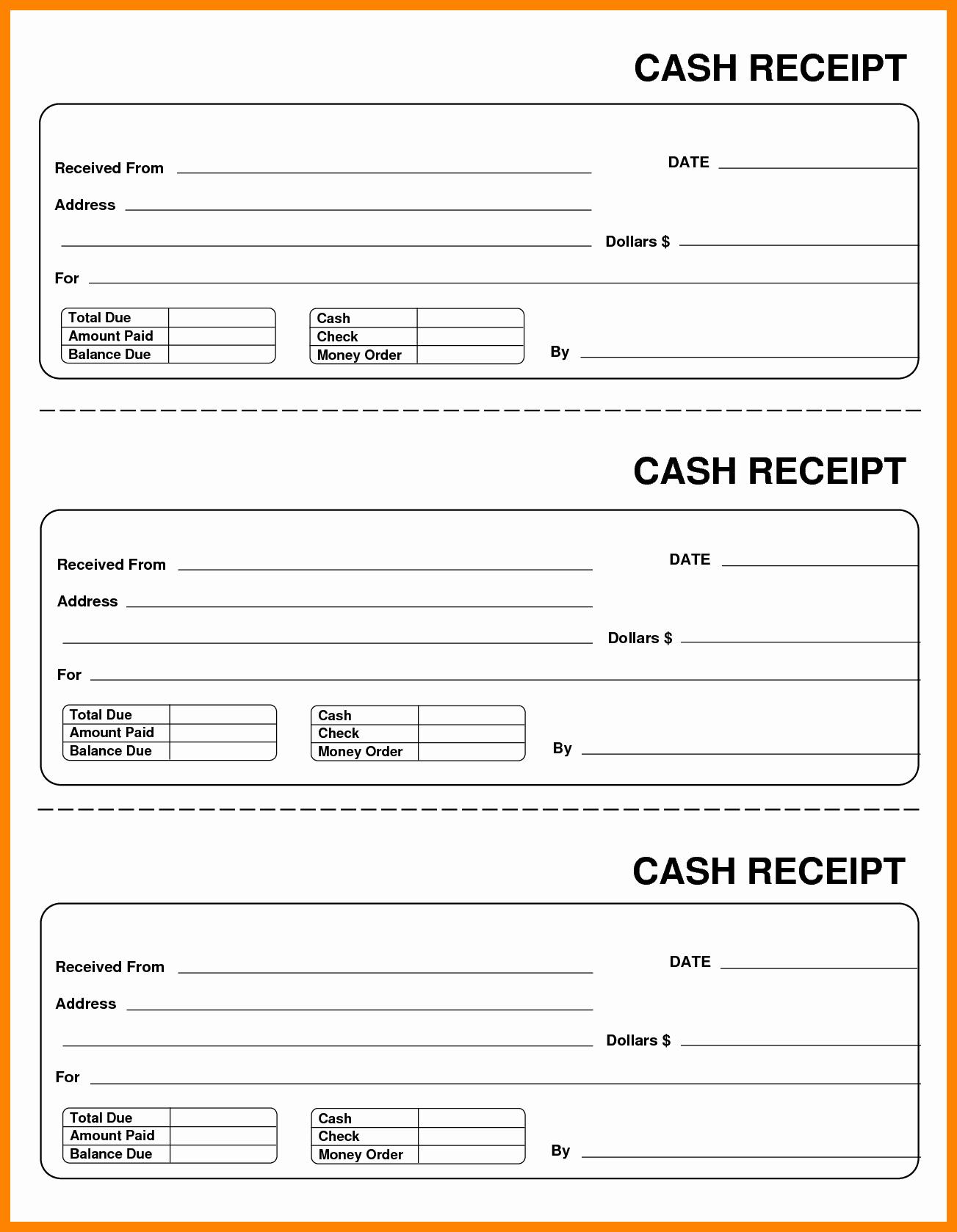 Cash Receipt Template Pdf New Cash Receipt Template Word Doc