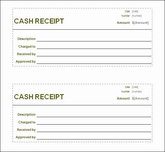 Cash Receipt Template Pdf Unique Free Printable Cash Receipt Template