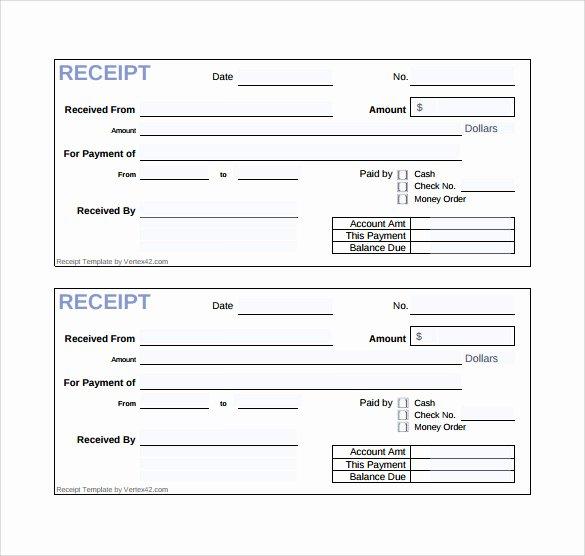 Cash Receipt Template Pdf Unique Sample Cash Receipt Template 21 Free Documents In Pdf Word