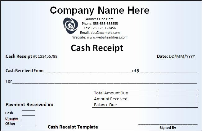 Cash Receipt Template Word Doc Awesome Free Cash Receipt Template