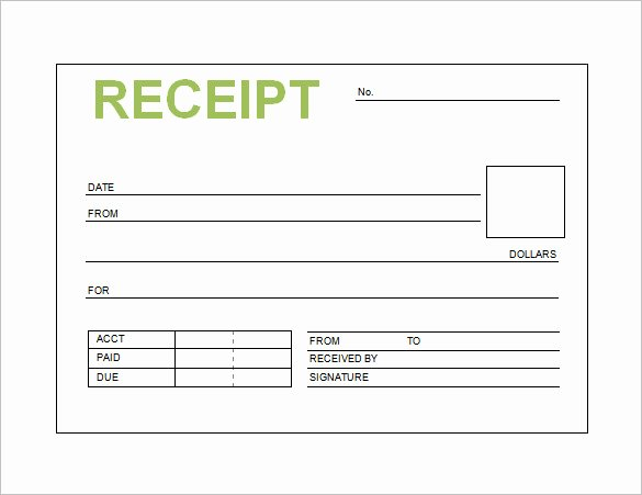 Cash Receipt Template Word Doc Elegant Receipt Template Doc for Word Documents In Different Types