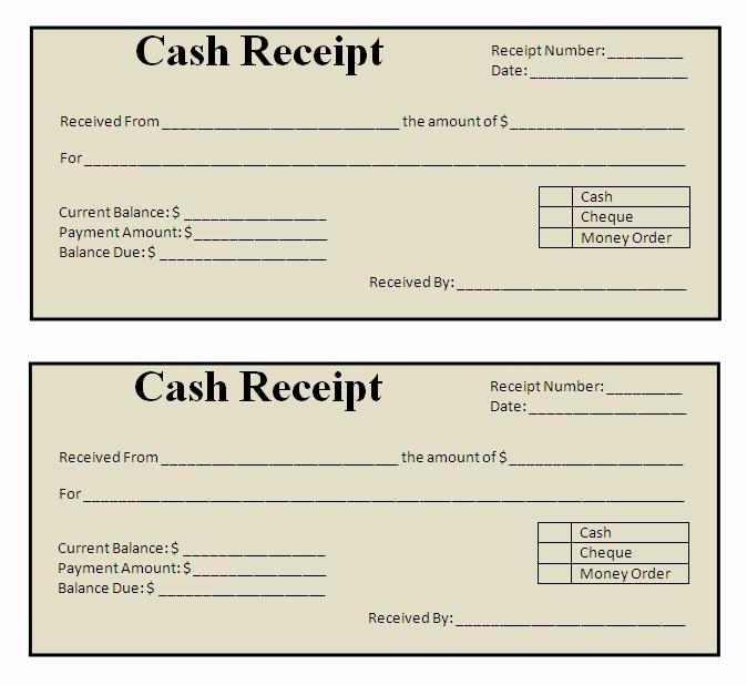 Cash Receipt Template Word Doc Elegant Receipt Templates