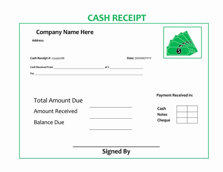Cash Receipt Template Word Doc Fresh 21 Free Cash Receipt Templates for Word Excel and Pdf