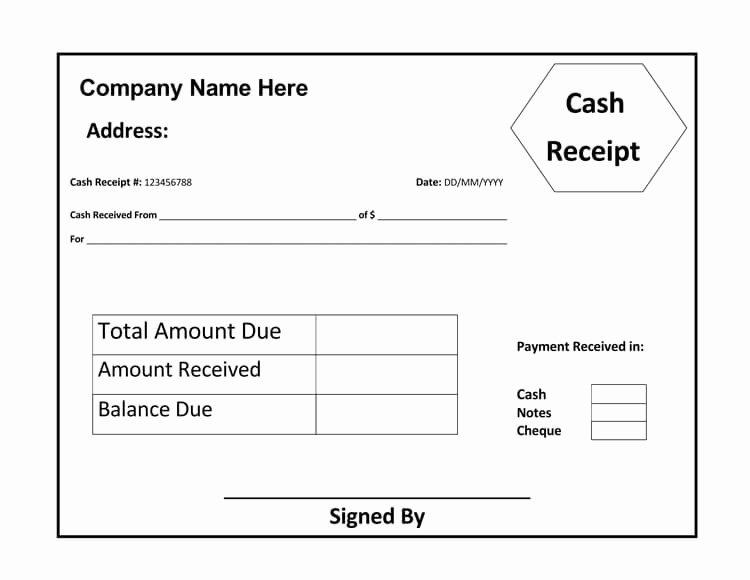 Cash Receipt Template Word Doc Inspirational 21 Free Cash Receipt Templates for Word Excel and Pdf
