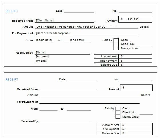 Cash Receipt Template Word Doc Inspirational Cash Receipt form Examples Vatansun