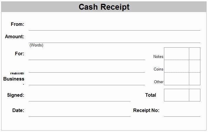 Cash Receipt Template Word Doc Lovely Hand Written Receipt Template