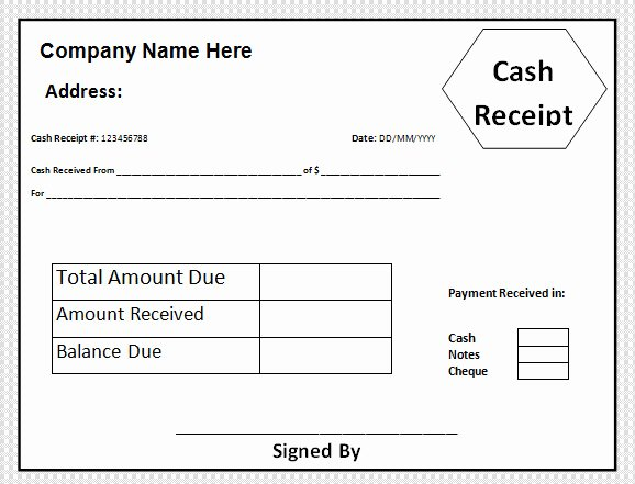 Cash Receipt Template Word Doc Luxury Free 30 Cash Receipt Templates In Google Docs