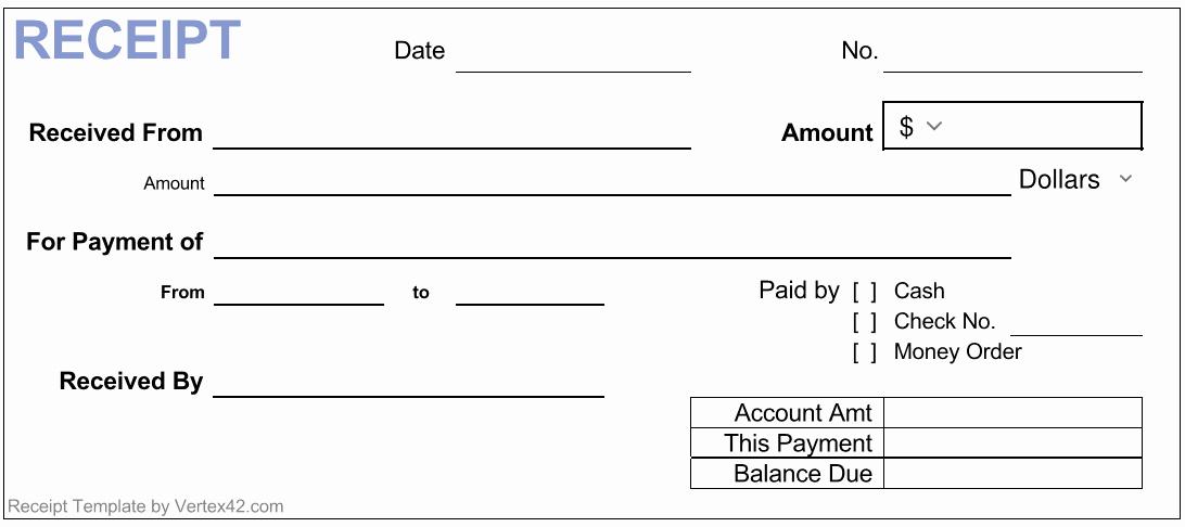 Cash Receipt Template Word Doc Unique 17 Free Cash Receipt Templates for Excel Word and Pdf