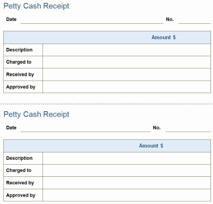 Cash Receipt Template Word Doc Unique Free Petty Cash Receipt Templates