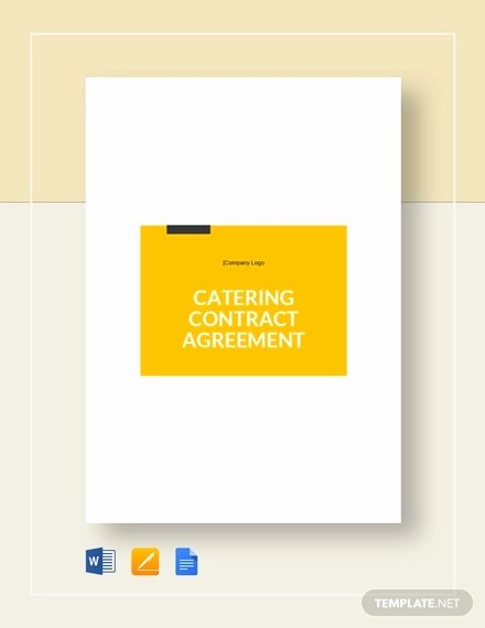 Catering Contracts Template Free New 7 Catering Contract Templates Docs Pages