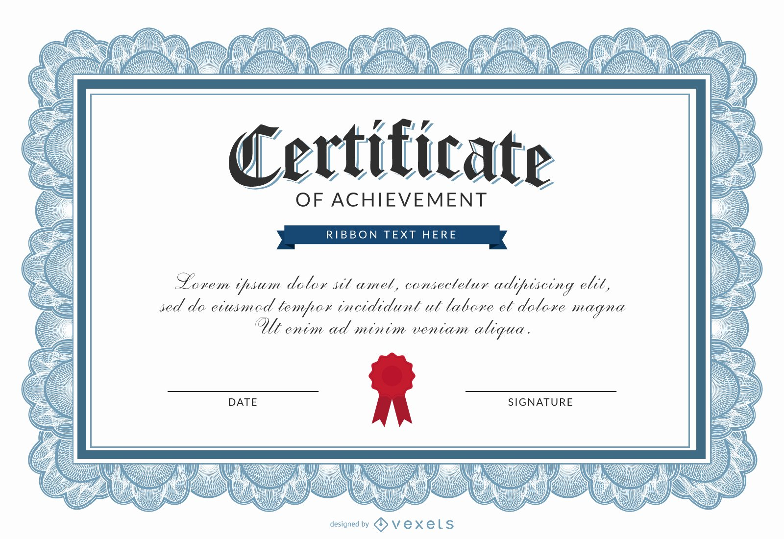 Certificate Of Accomplishment Template Awesome Certificate Of Achievement Template Vector