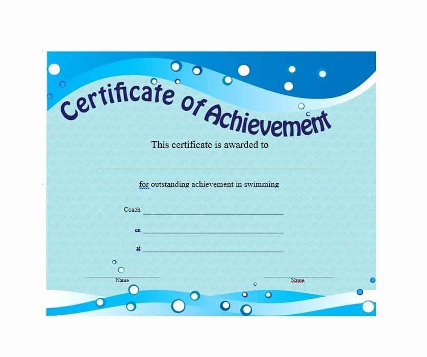 Certificate Of Accomplishment Template Beautiful 40 Great Certificate Of Achievement Templates Free