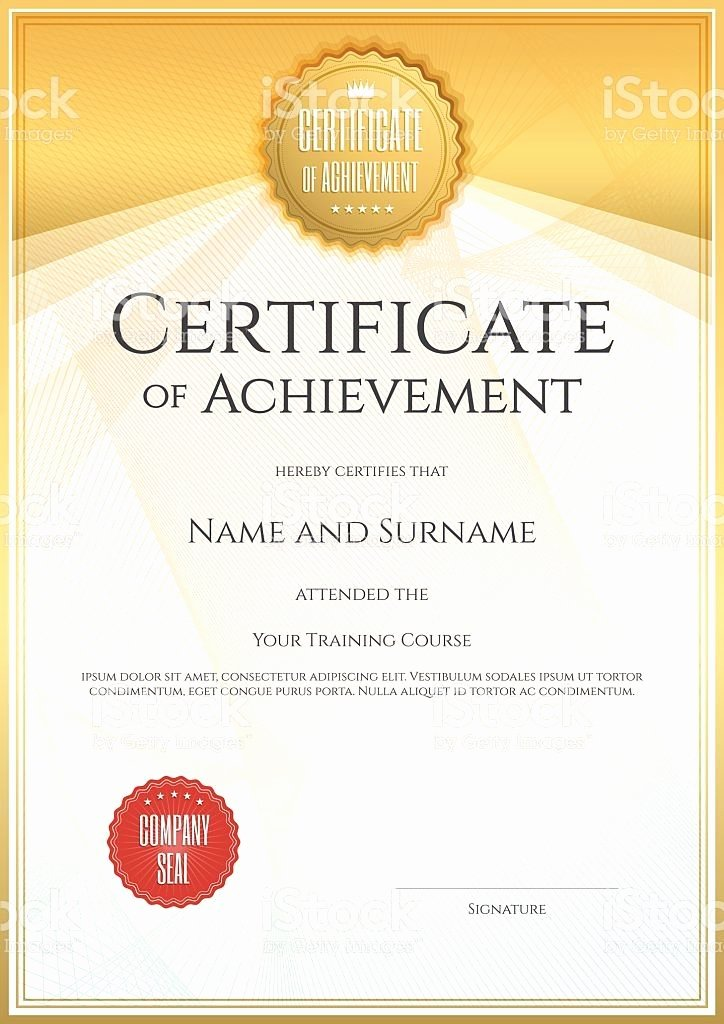 Certificate Of Accomplishment Template Beautiful Best 25 Certificate Of Achievement Template Ideas On