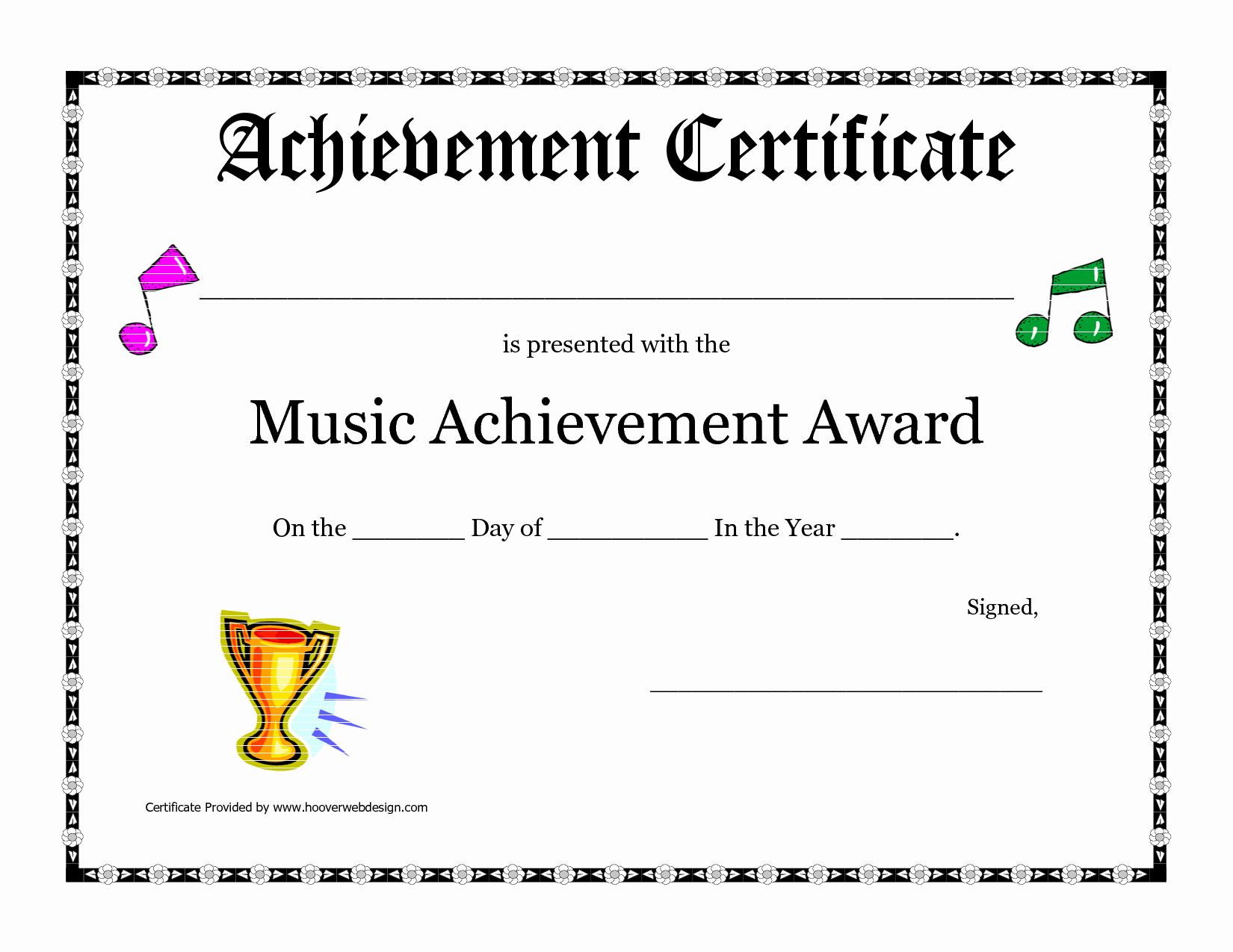 Certificate Of Accomplishment Template Beautiful Free Printable Achievement Award Certificate Template
