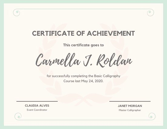 Certificate Of Accomplishment Template Best Of Customize 41 Achievement Certificate Templates Online Canva