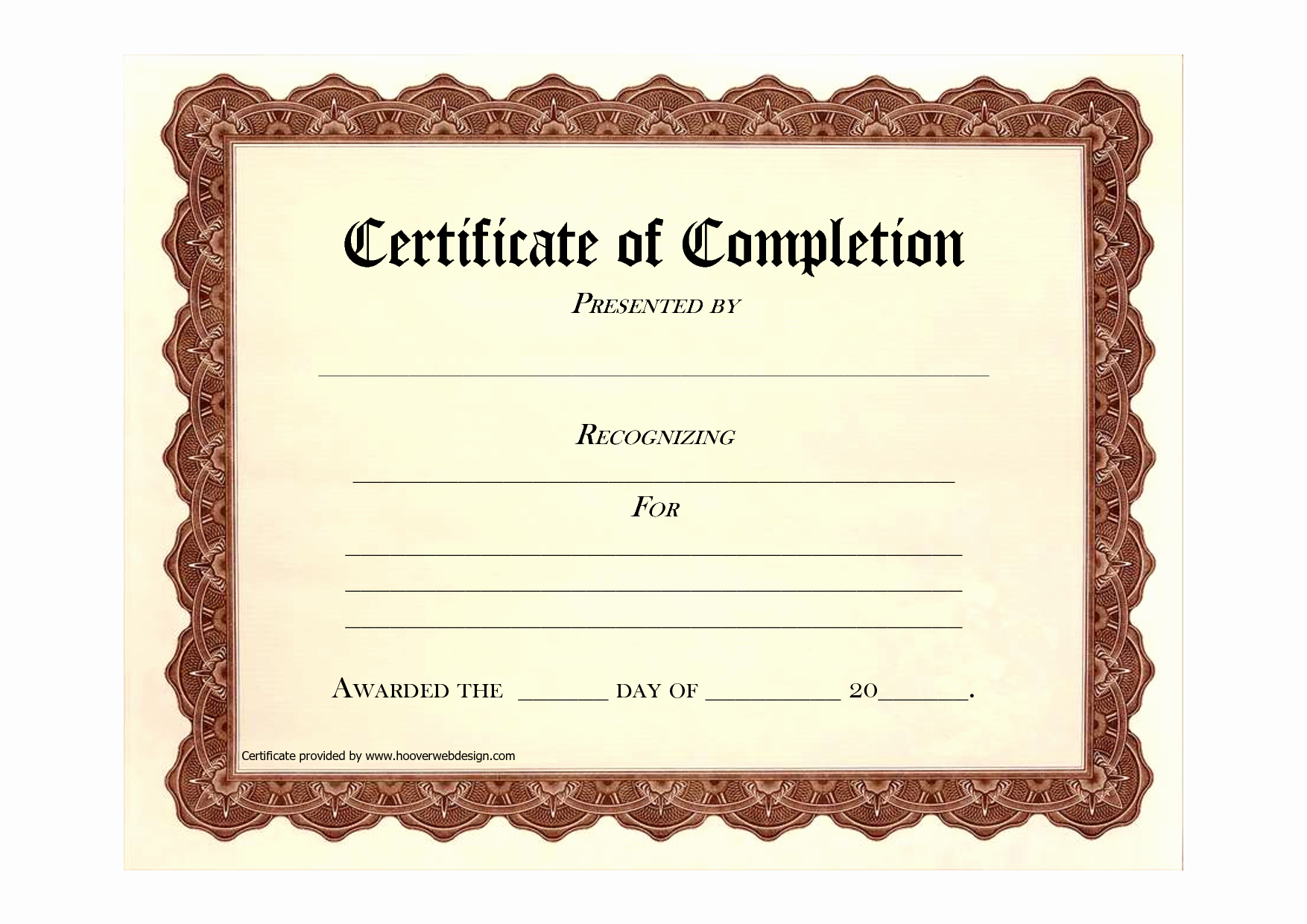 Certificate Of Accomplishment Template Best Of Free Printable Certificates