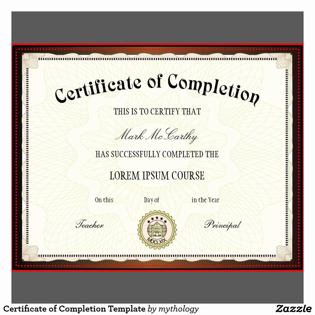 Certificate Of Accomplishment Template Elegant Free Printable Certificates