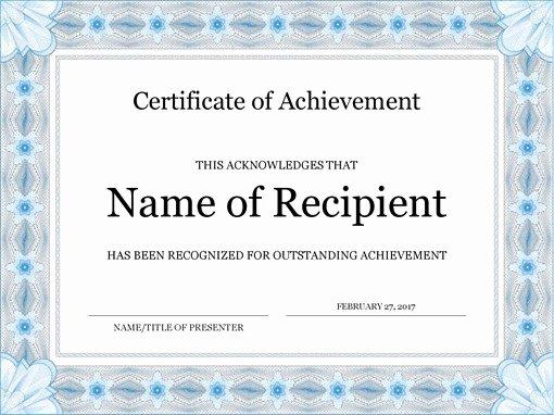 Certificate Of Accomplishment Template Fresh Certificates Fice