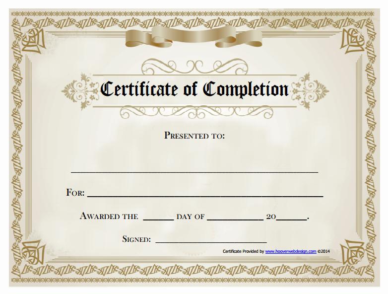 Certificate Of Accomplishment Template Inspirational 18 Free Certificate Of Pletion Templates
