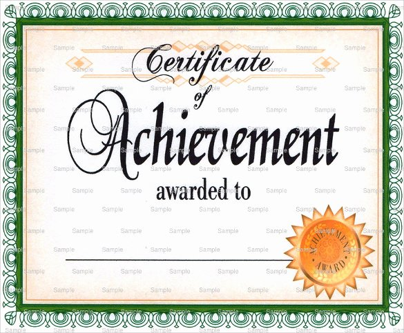 Certificate Of Accomplishment Template Lovely Certificate Of Achievement Template 38 Download In Psd