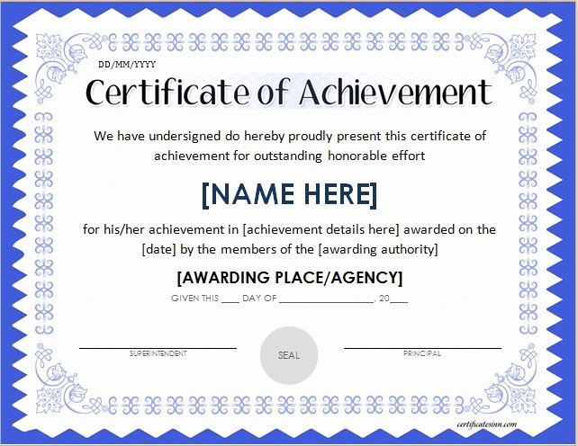 Certificate Of Accomplishment Template Lovely Scholarship Award Certificate Template