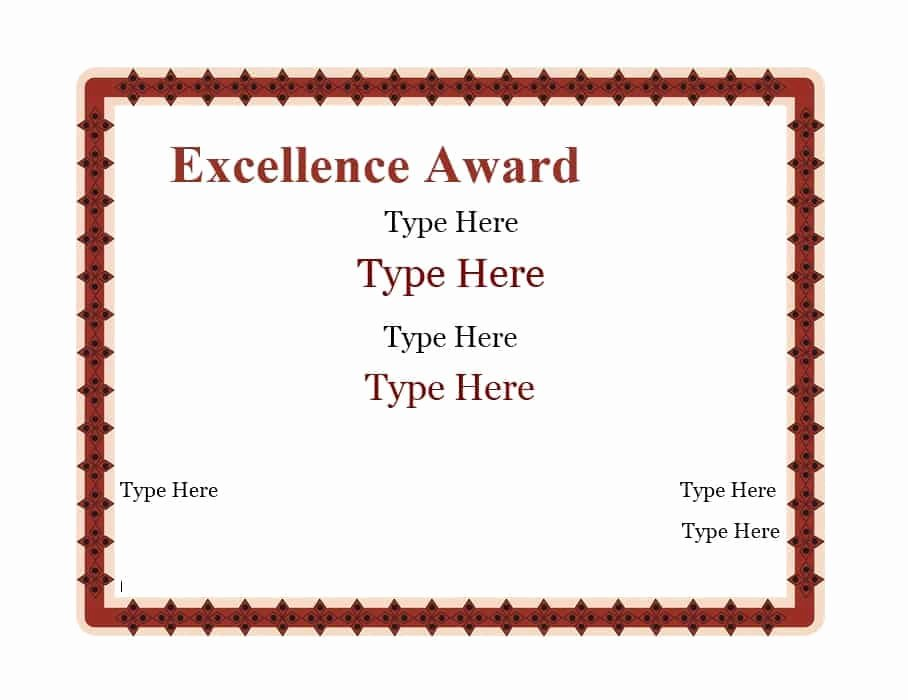 Certificate Of Accomplishment Template Luxury 40 Great Certificate Of Achievement Templates Free