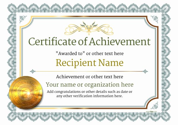 Certificate Of Accomplishment Template Luxury Certificate Of Achievement Free Templates Easy to Use