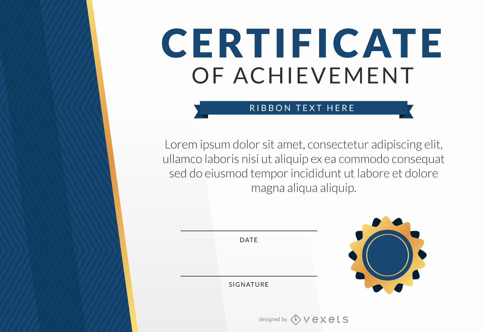 Certificate Of Accomplishment Template Luxury Certificate Of Achievement Template Mockup Vector