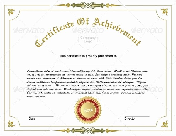 Certificate Of Accomplishment Template New 10 Achievement Certificates Word Ai Indesign Psd