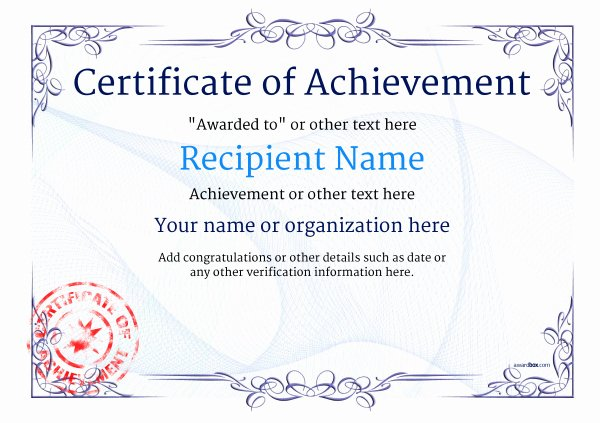 Certificate Of Accomplishment Template New Certificate Of Achievement Free Templates Easy to Use