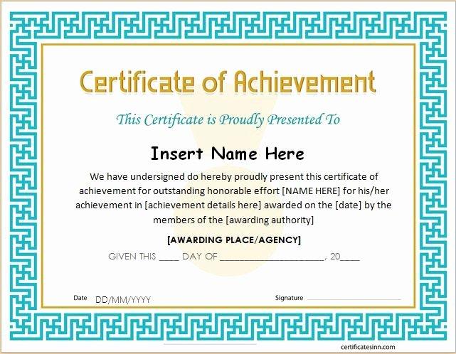 Certificate Of Accomplishment Template New Pin by Alizbath Adam On Certificates