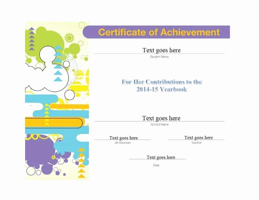 Certificate Of Accomplishment Template Unique 40 Great Certificate Of Achievement Templates Free