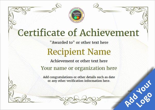 Certificate Of Accomplishment Template Unique Certificate Of Achievement Free Templates Easy to Use