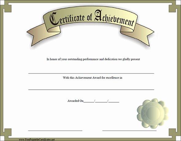 Certificate Of Accomplishment Template Unique Certificate Of Achievement Template 19 Download In Psd
