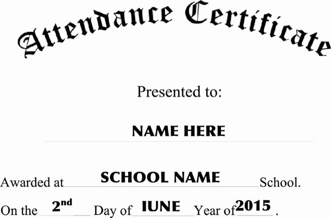 Certificate Of attendance Template Free Beautiful 11 attendance Certificate Template Free Download
