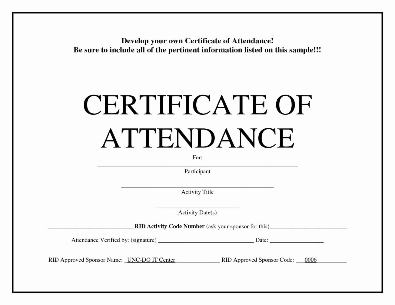Certificate Of attendance Template Free Elegant Free Printable attendance Certificates Template
