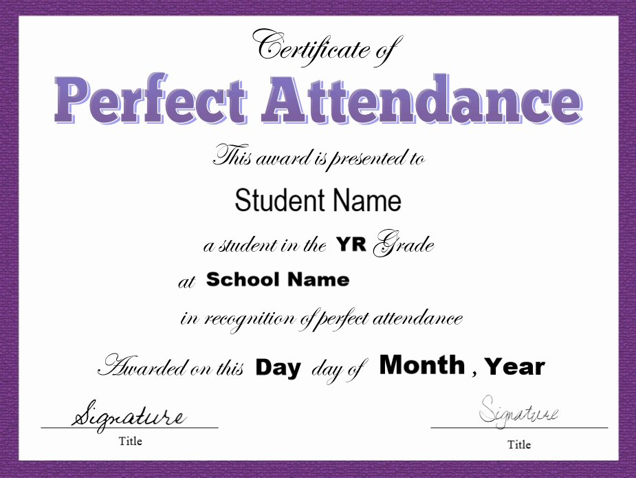 Certificate Of attendance Template Free Fresh 8 Free Sample attendance Certificate Templates Printable