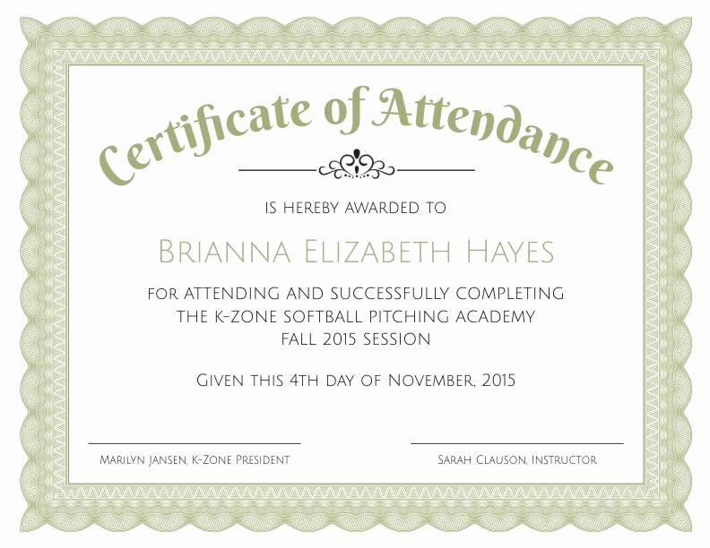 Certificate Of attendance Template Free Luxury formal Certificate Of Appreciation Template 2
