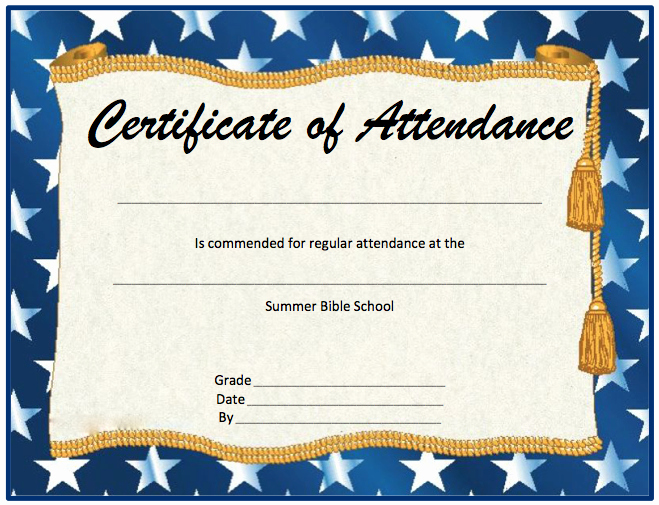 Certificate Of attendance Template Free Luxury Perfect attendance Certificate Template Microsoft Word