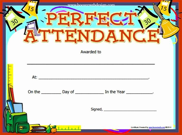 Certificate Of attendance Template Free New 8 Best Perfect attendance Images On Pinterest
