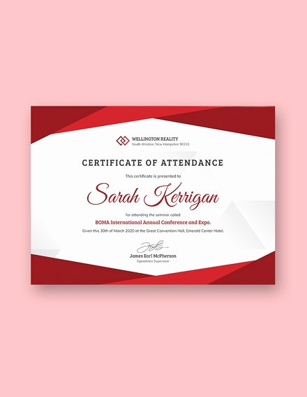 Certificate Of attendance Template Free Unique 22 attendance Certificate Examples & Templates