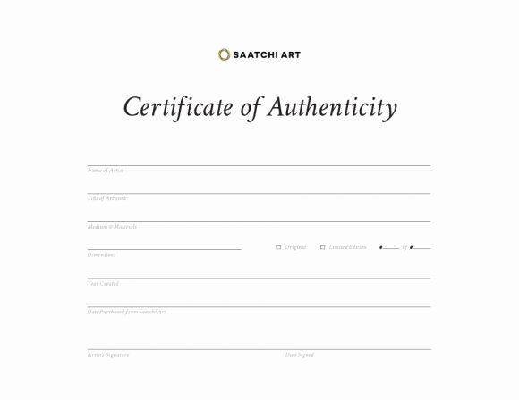 Certificate Of Authenticity Artwork Template Beautiful Certificate Of Authenticity Msword Doc