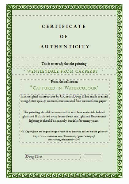 Certificate Of Authenticity Artwork Template Inspirational Caring for Watercolor Paintings Instructions Wetcanvas